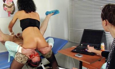 Vicious nurse with dildo